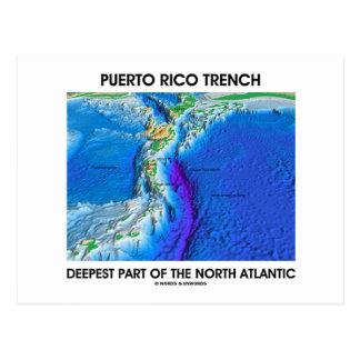 La pieza más profunda del foso de Puerto Rico del  Tarjeta Postal