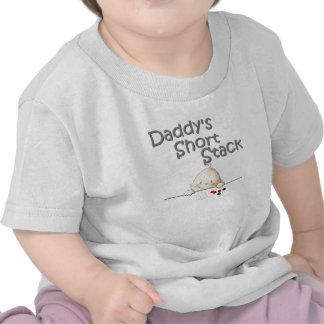 La pila corta T del papá Camisetas