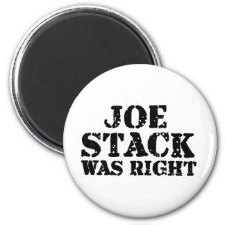 La pila de Joe correcta Imán De Frigorífico