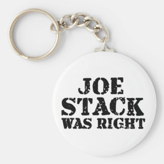 La pila de Joe correcta Llavero Redondo Tipo Pin
