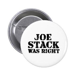 La pila de Joe correcta Pins