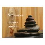 La pila de meditación empiedra el vale invitaciones personalizada