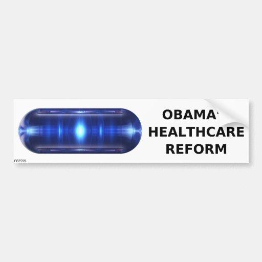 La píldora de Obama Pegatina De Parachoque