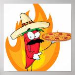 La pimienta de chile de Chile del sombrero soporta Posters