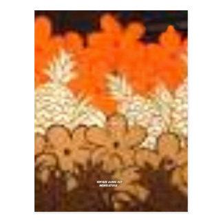 La piña coloca (la impresión de la hawaiana del vi tarjetas postales