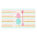 La piña exótica de la turquesa rosada raya flechas tarjetas de visita