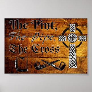 La pinta, el tubo, la cruz impresiones