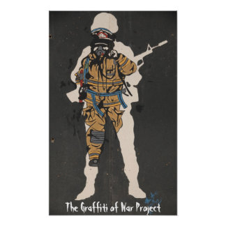 La pintada del proyecto de la guerra: Viaje del Na Póster