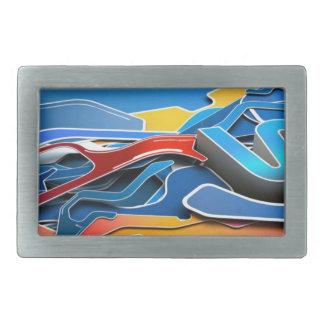 La pintada diseñó el caso del iPhone con un azul e Hebillas Cinturón Rectangulares