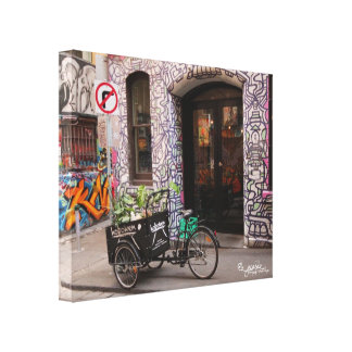 La pintada Laneway envolvió la impresión de la lon Lienzo Envuelto Para Galerias