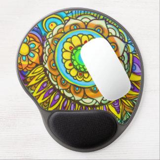 La pintada Sun estalló el gel ergonómico Mousepad Alfombrillas De Ratón Con Gel