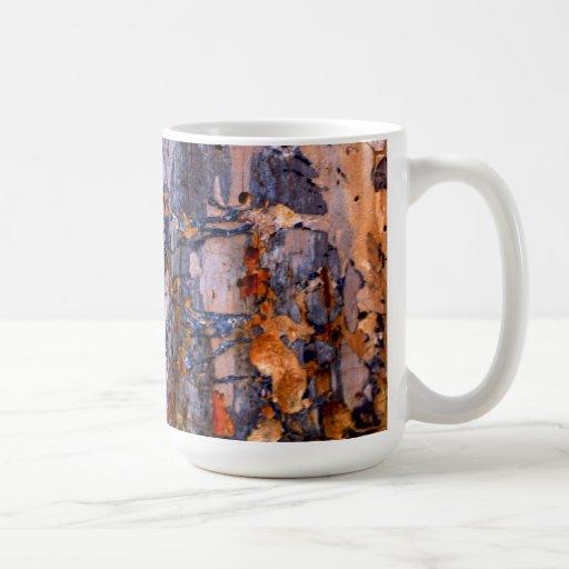 La pintura abstracta de la naturaleza taza