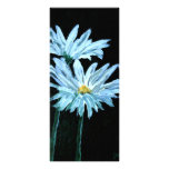 la pintura al óleo de la margarita blanca florece  diseños de tarjetas publicitarias