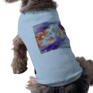La pintura al óleo florece el extracto playera sin mangas para perro