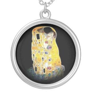La pintura amarilla de Gustavo Klimt Digital del b Colgante Redondo