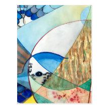 La pintura brillante de la fauna de la urraca postal