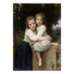 La pintura clásica de Bouguereau - dos Sisters Póster