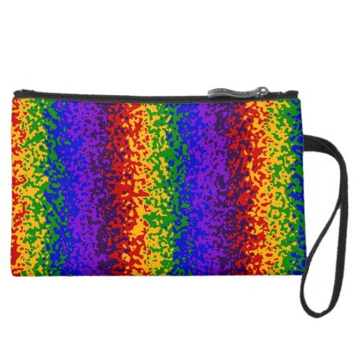 La pintura colorida del arco iris salpica arte abs