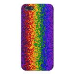 La pintura colorida del arco iris salpica arte abs iPhone 5 protectores