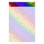 La pintura colorida del arco iris salpica arte abs papeleria personalizada