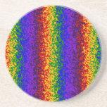 La pintura colorida del arco iris salpica arte abs posavasos cerveza