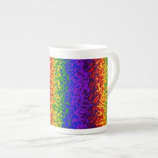 La pintura colorida del arco iris salpica arte abs tazas de china