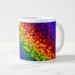 La pintura colorida del arco iris salpica arte abs taza extra grande