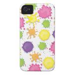La pintura colorida mancha, gotea y caso de los de iPhone 4 funda