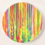 La pintura creativa del goteo raya arte abstracto posavasos manualidades