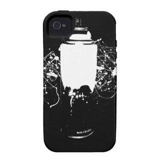 La pintura de aerosol blanco y negro puede salpica vibe iPhone 4 carcasas