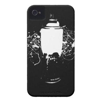 La pintura de aerosol blanco y negro puede salpica iPhone 4 Case-Mate cárcasa