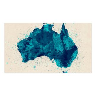 La pintura de Australia salpica el mapa Tarjeta De Visita