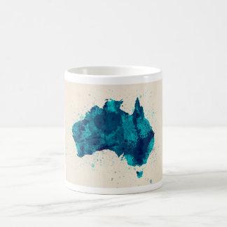 La pintura de Australia salpica el mapa Taza Básica Blanca