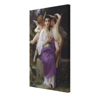 La pintura de Bouguereau el corazón que despierta  Lienzo Envuelto Para Galerías