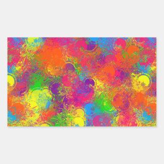 La pintura de CKC puede Floral-Rect.Stickers Pegatina Rectangular