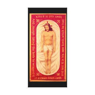 La pintura de Cristo envolvió la lona Impresión En Lienzo Estirada