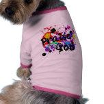 La pintura de dios de la alabanza salpica la camis camisetas de perro