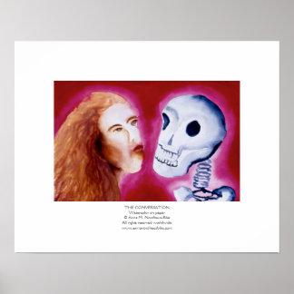 La pintura de la acuarela de la conversación póster