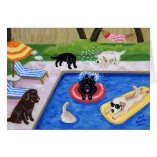 La pintura de la diversión de Labradors de la fies Tarjeta
