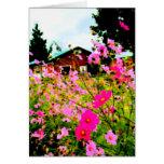 La pintura de la granja de la flor tarjeta pequeña