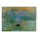 La pintura de la salida del sol de Monet que piens Felicitación