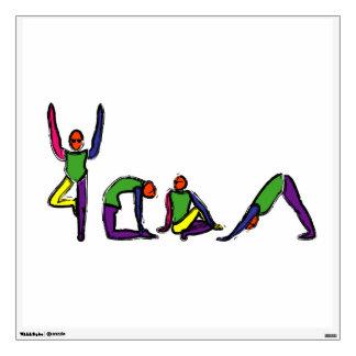 La pintura de la yoga plantea YOGA del deletreo
