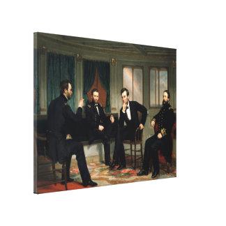 La pintura de los pacificadores de 1868 lienzo envuelto para galerías