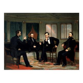 La pintura de los pacificadores de 1868 postales