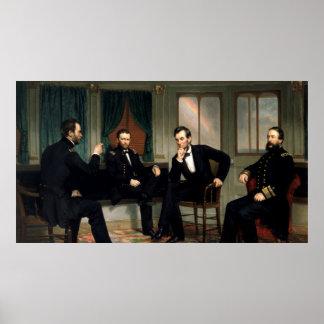 La pintura de los pacificadores de 1868 posters