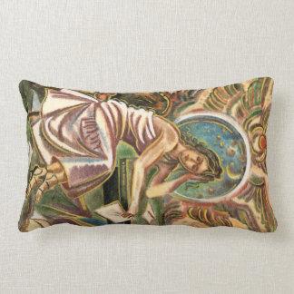 La pintura de pensamiento de la acuarela del cojín lumbar