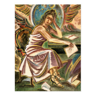 La pintura de pensamiento de la acuarela del postales
