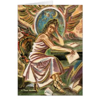 La pintura de pensamiento de la acuarela del tarjeta de felicitación