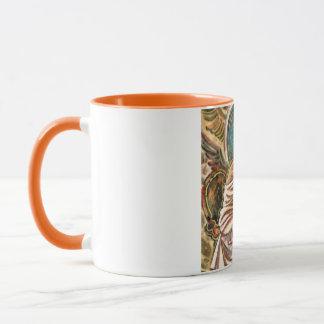 La pintura de pensamiento de la acuarela del taza