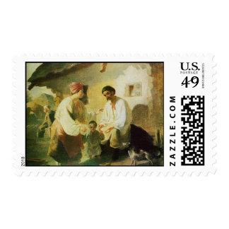 La pintura de Shevchenko - familia rural Timbre Postal